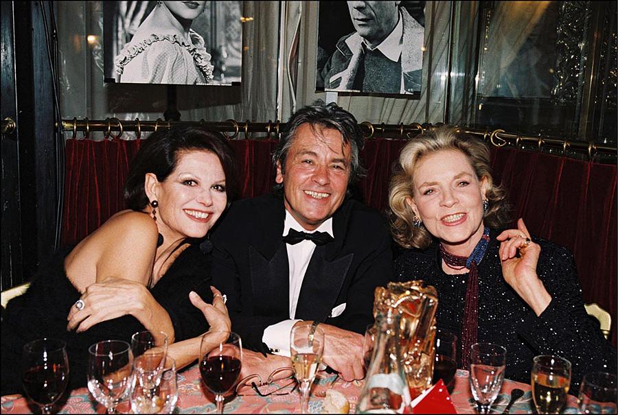 Alain Delon avec Laure...