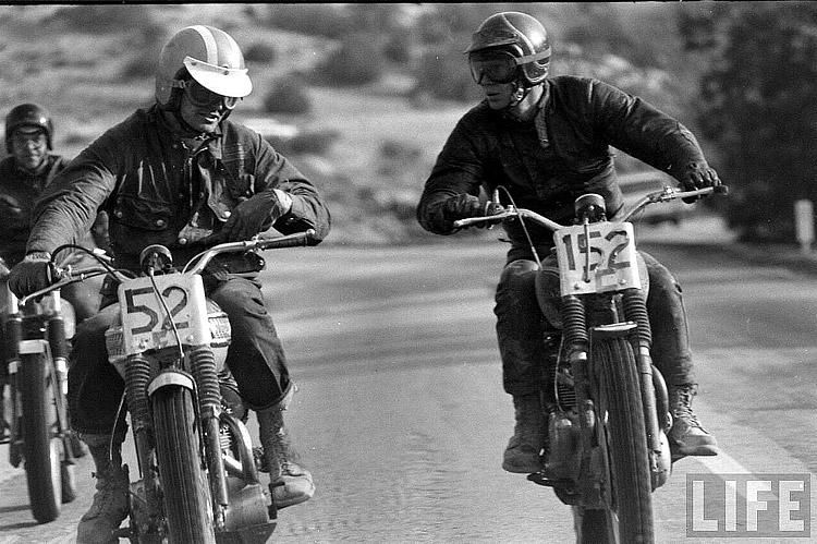 Bonneville And Son >> Photogriffon - REPORTAGE STEVE MCQUEEN / Steve McQueen mechanics
