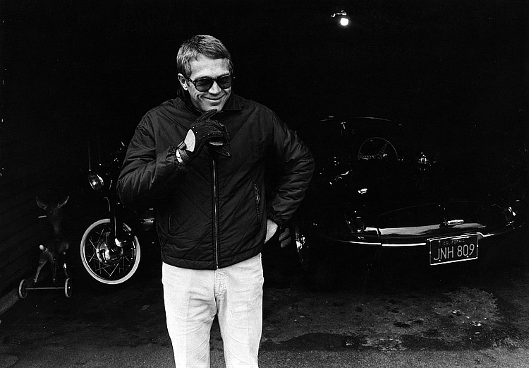 Steve Mcqueen By William Claxton on Shelby Cobra V12